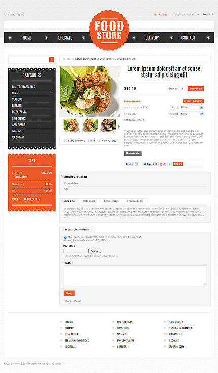 ADOBE Photoshop Template 39044 Home Page Screenshot