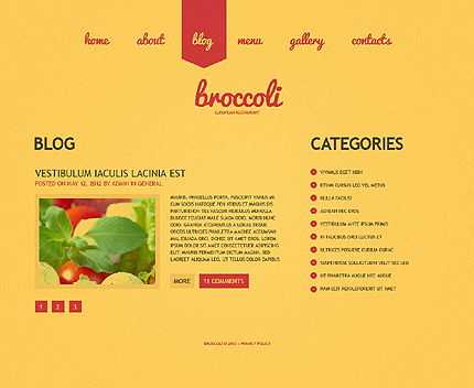 Template 39062 ( Blog Page ) ADOBE Photoshop Screenshot