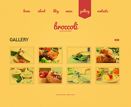 Template 39062 ( Gallery Page ) ADOBE Photoshop Screenshot