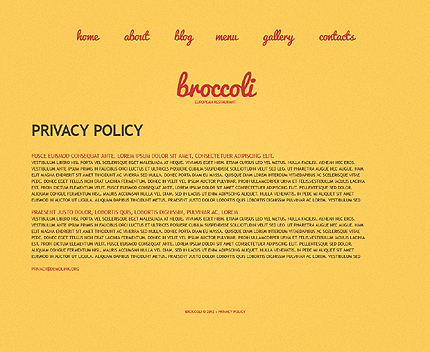Template 39062 ( Privacy Policy Page ) ADOBE Photoshop Screenshot