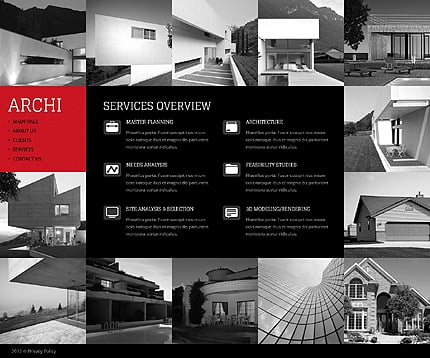 Template 39063 ( Services Page ) ADOBE Photoshop Screenshot