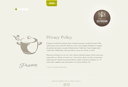 Template 39066 ( Privacy Policy Page ) ADOBE Photoshop Screenshot
