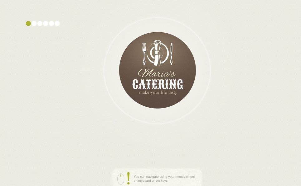 Tema Siti Web  #39066 per Un Sito di Catering New Screenshots BIG