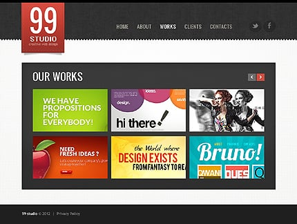 Template 39068 ( Works Page ) ADOBE Photoshop Screenshot