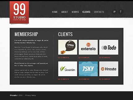Template 39068 ( Clients Page ) ADOBE Photoshop Screenshot