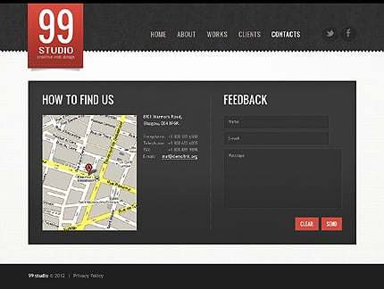 Template 39068 ( Contacts Page ) ADOBE Photoshop Screenshot