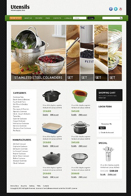 ADOBE Photoshop Template 39084 Home Page Screenshot