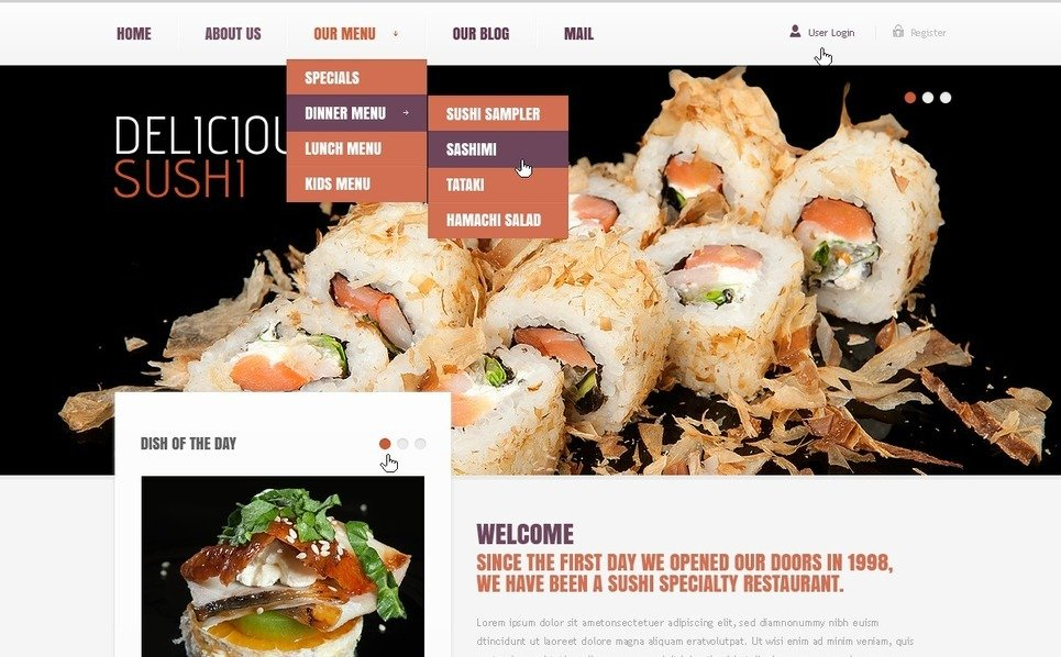 Template Drupal para Sites de Restaurante de frutos do mar №39086 New Screenshots BIG