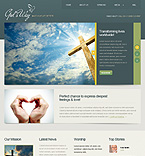 Religious Drupal  Template 39087