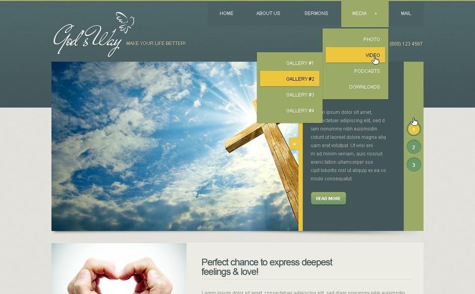 Drupal Vorlage für Christliche  New Screenshots BIG