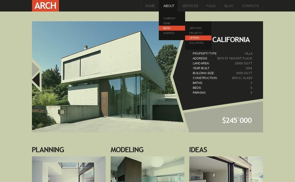Építőipari vállalatok Drupal sablon New Screenshots BIG