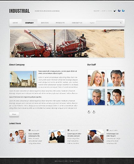 Template 39098 ( Company Page ) ADOBE Photoshop Screenshot