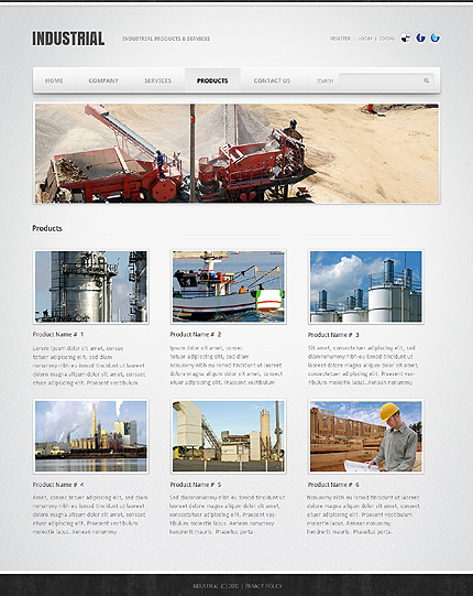Template 39098 ( Products Page ) ADOBE Photoshop Screenshot