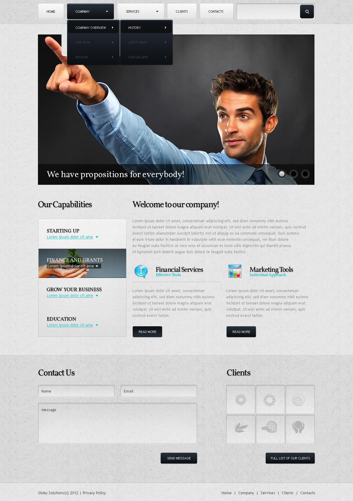 Financial Services Website Templates. ifa website templates from ...