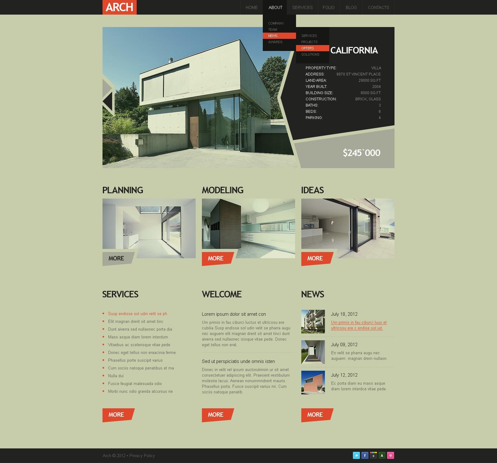 Construction Company Drupal Template - screenshot