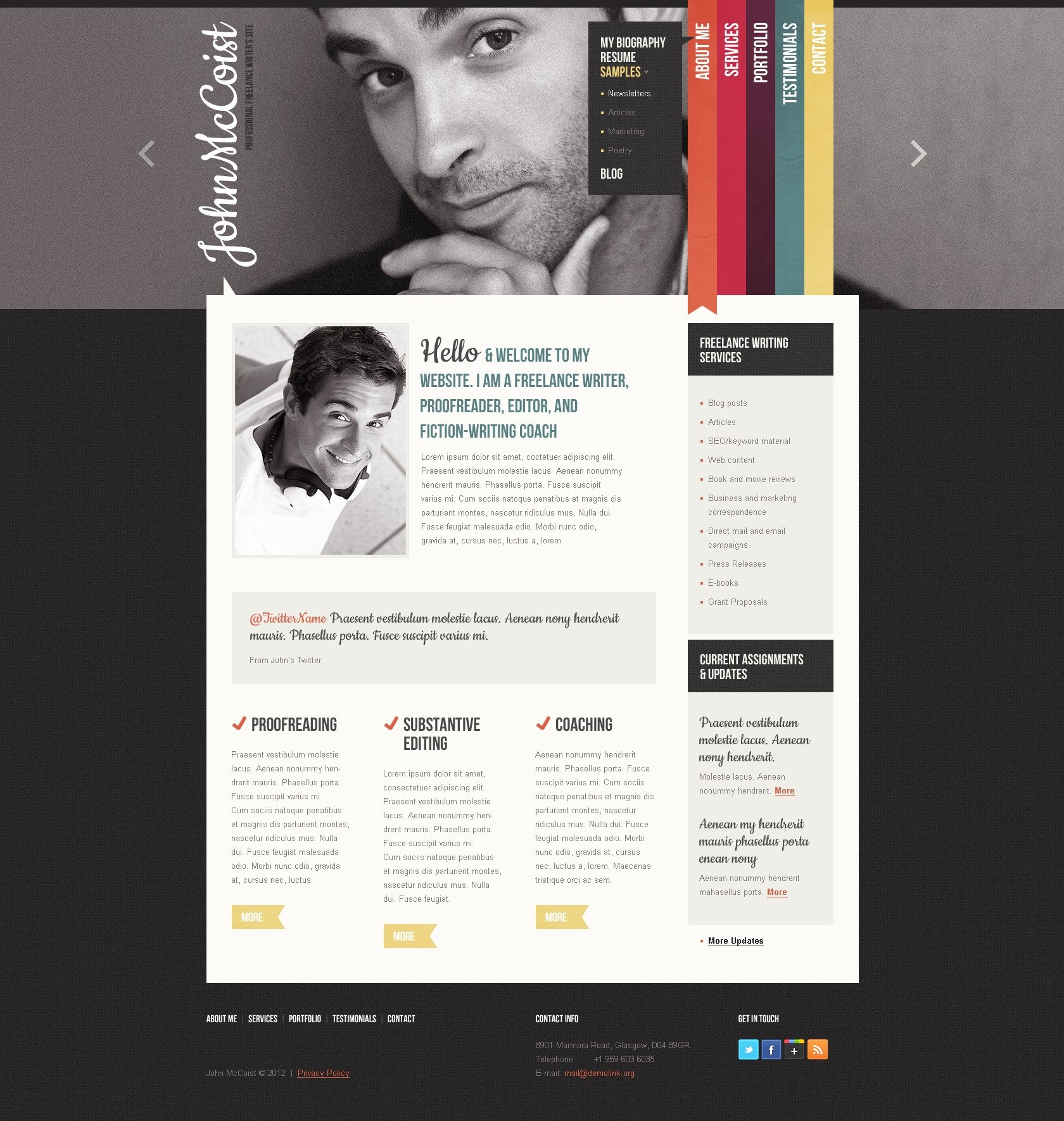 Nett Persönliche Website Vorlagen Html5 Galerie - Entry Level Resume ...