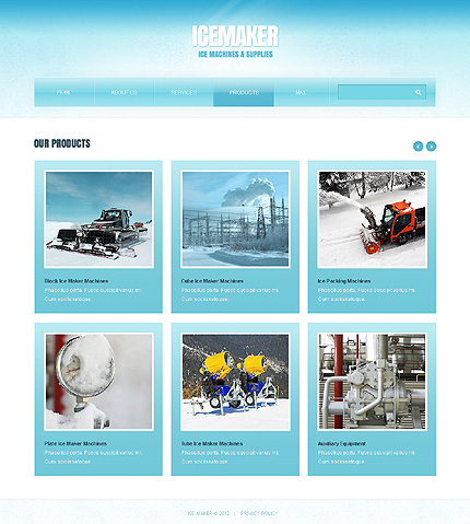 Template 39105 ( Products Page ) ADOBE Photoshop Screenshot