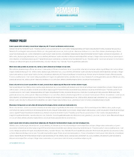 Template 39105 ( Privacy Policy Page ) ADOBE Photoshop Screenshot