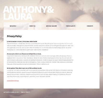 Template 39108 ( Privacy Policy Page ) ADOBE Photoshop Screenshot