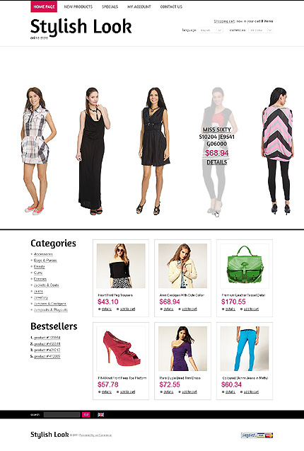 osCommerce Template 39113 Main Page Screenshot