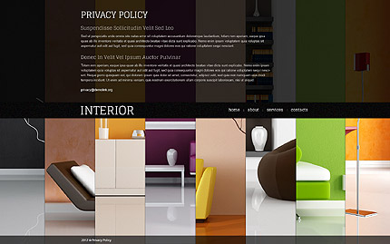 Template 39115 ( Privacy Policy Page ) ADOBE Photoshop Screenshot