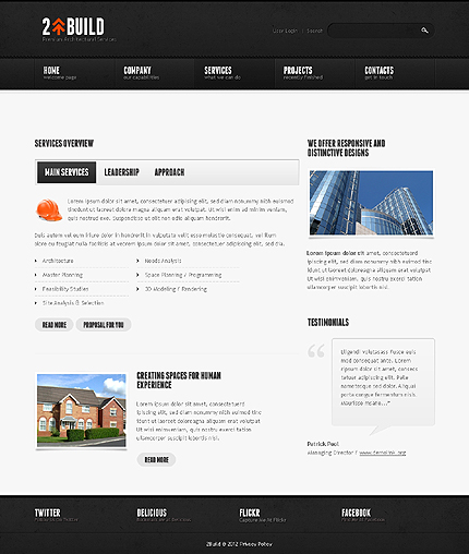 Template 39126 ( Services Page ) ADOBE Photoshop Screenshot