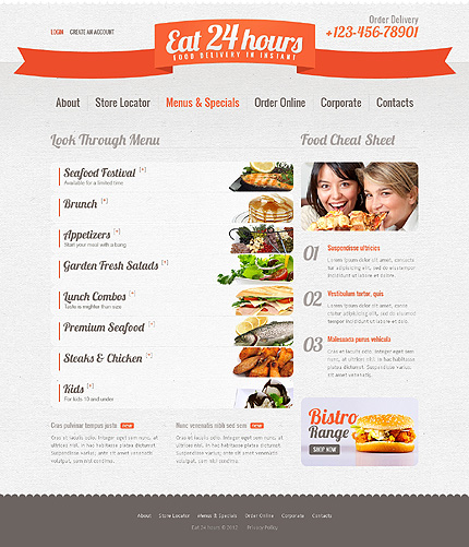 Template 39142 ( Menus & Specials Page ) ADOBE Photoshop Screenshot