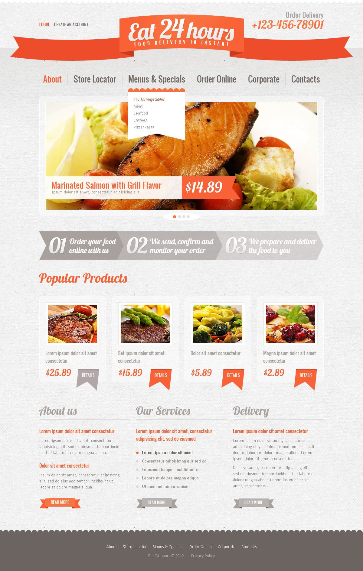 catering website template 39142 by wt website templates