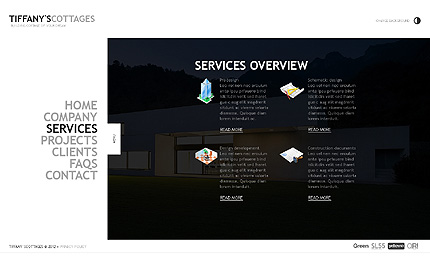 Template 39162 ( Services Page ) ADOBE Photoshop Screenshot