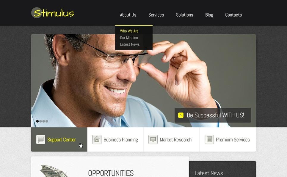 财务咨询公司网站Joomla模板 New Screenshots BIG