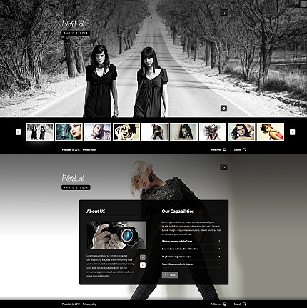 ADOBE Photoshop Template 39175 Home Page Screenshot