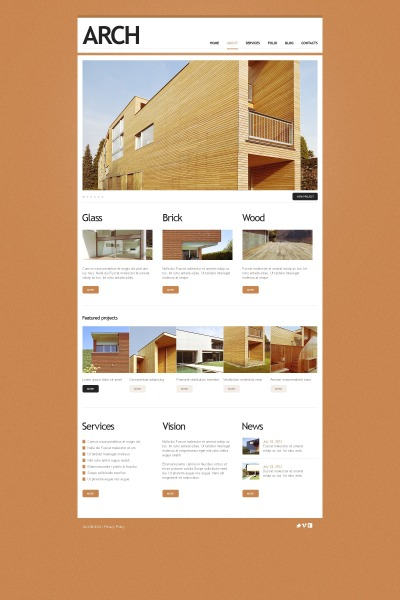 Construction Company Drupal Template
