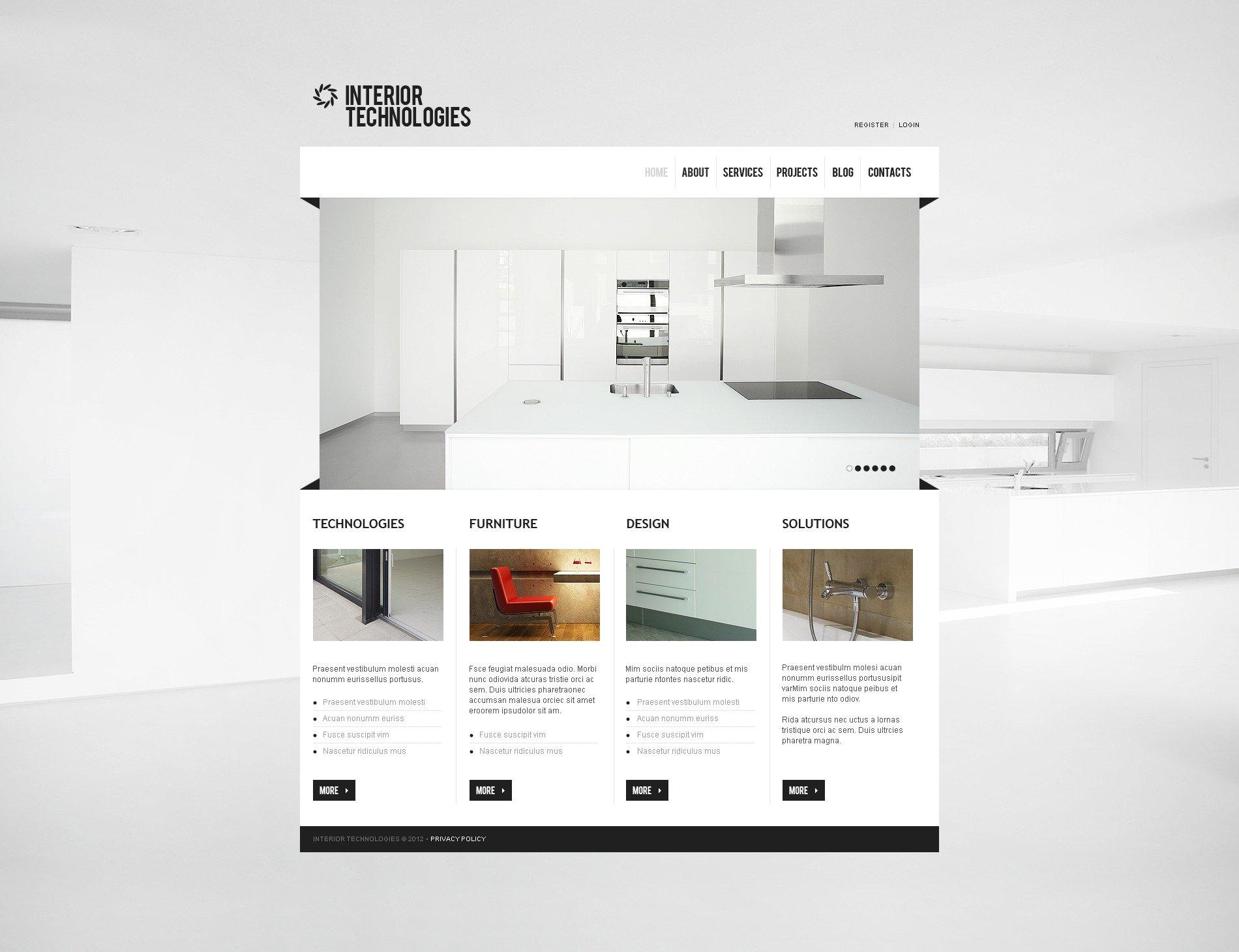 Tema joomla 39155 per un sito di arredamento e design for Sito arredamento design