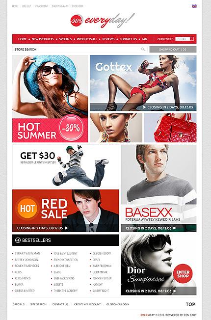 ZenCart Template 39205 Main Page Screenshot