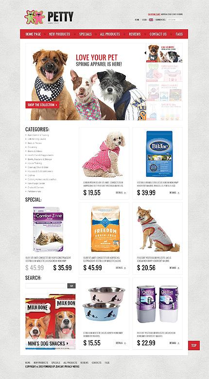 ZenCart Template 39207 Main Page Screenshot