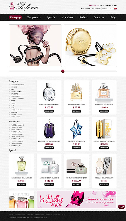ZenCart Template 39209 Main Page Screenshot