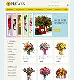 Flowers ZenCart  Template 39210