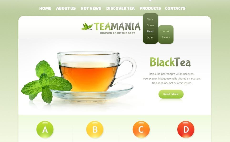 Modèle Web  pour un salon de thé New Screenshots BIG
