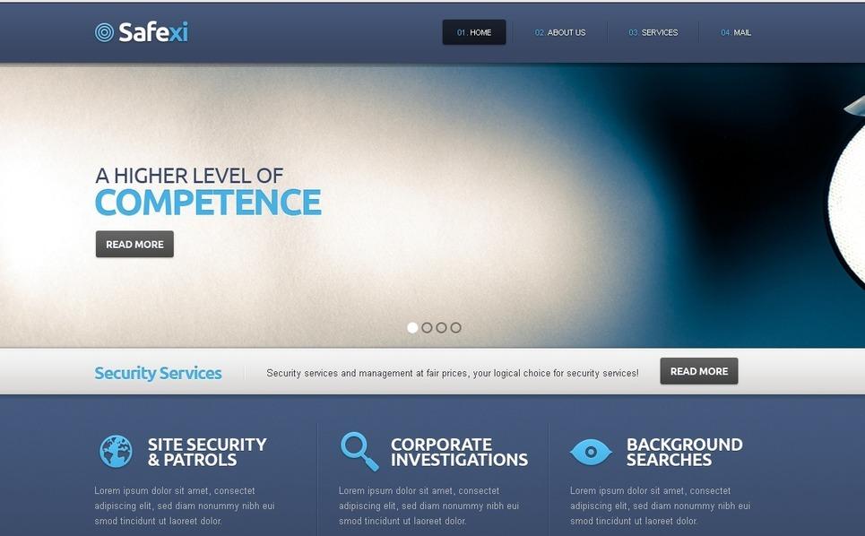 Szablon Strona Www #39238 na temat: bezpieczeństwo informacji New Screenshots BIG
