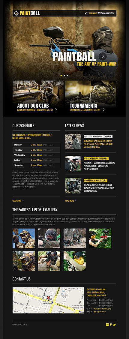 ADOBE Photoshop Template 39251 Home Page Screenshot