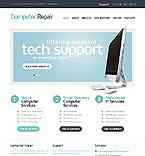 Computers Website  Template 39257