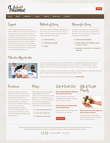 Template 39263 ( Support Page ) ADOBE Photoshop Screenshot