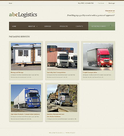Template 39264 ( Services Page ) ADOBE Photoshop Screenshot