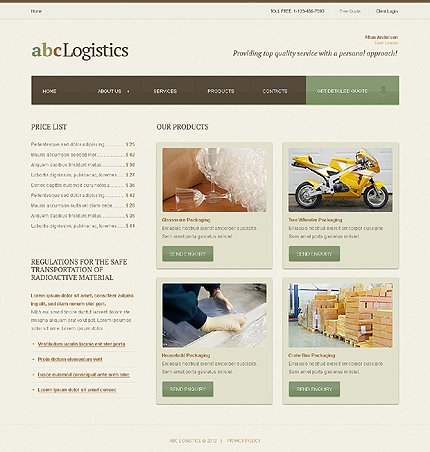 Template 39264 ( Products Page ) ADOBE Photoshop Screenshot