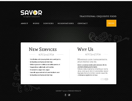 Template 39267 ( Services Page ) ADOBE Photoshop Screenshot