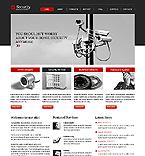 Security Website  Template 39271