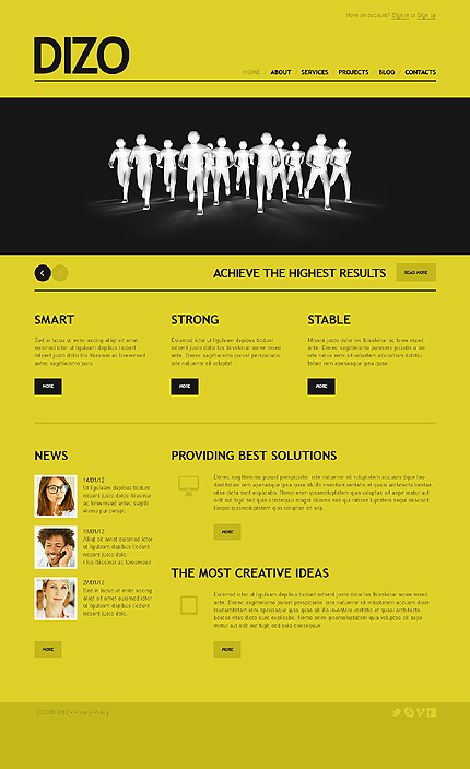 Joomla Theme/Template 39290 Main Page Screenshot