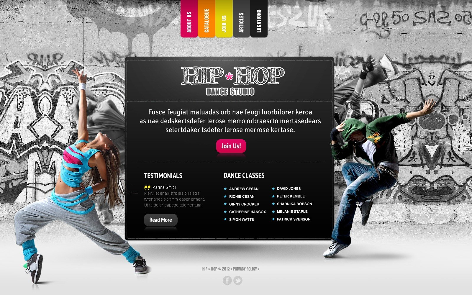 Dance Studio Website Template 39222