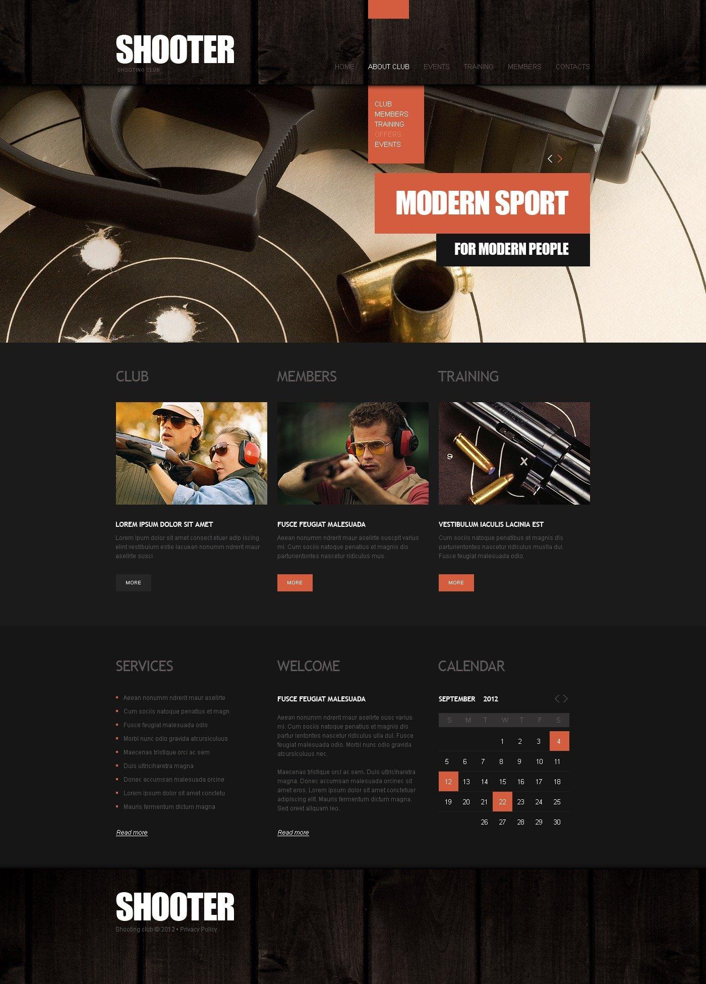 gun shop website template 39293