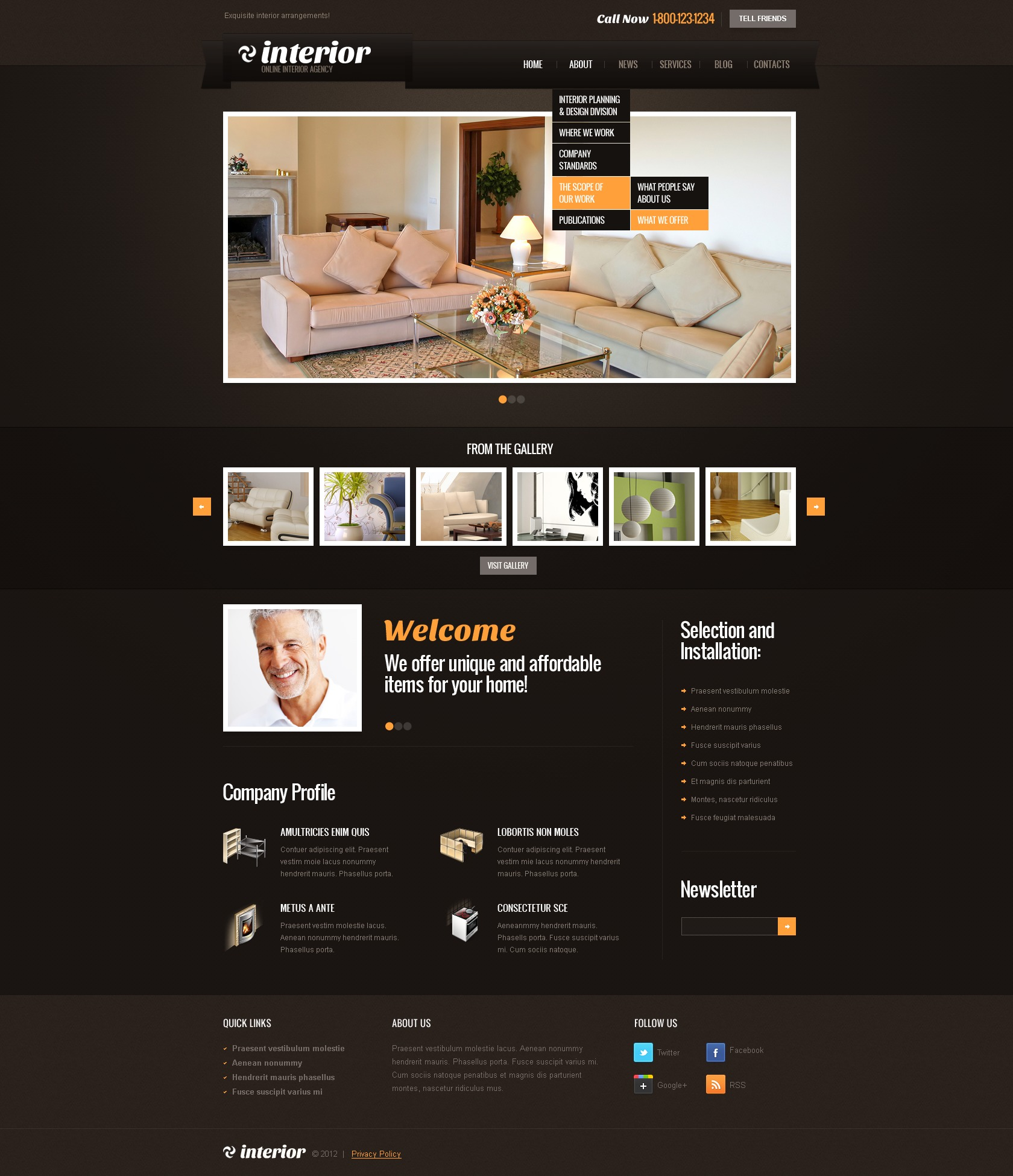 Interior design wordpress theme 39278 for Interior design wordpress theme